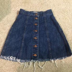 J. Crew Denim Panel Mini Skirt Size 24